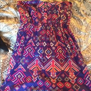 Dresses & Skirts - Strapless multicolor dress